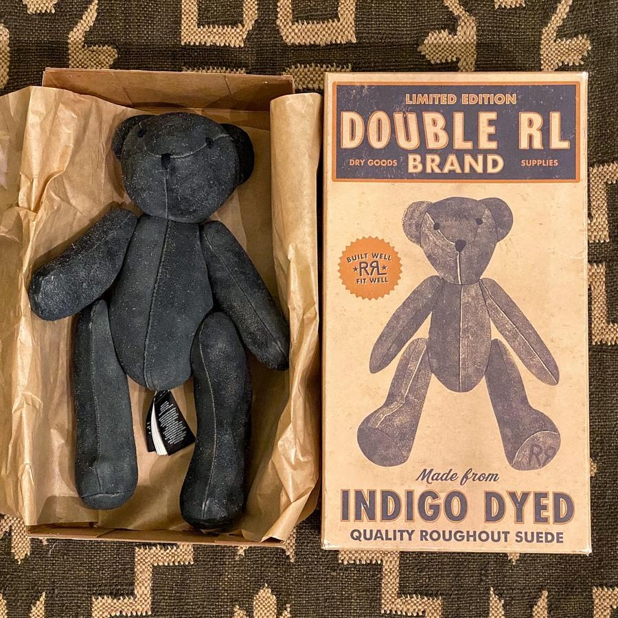 (ダブルアールエル) RRL 世界限定100個 リミテッドエディション インディゴ イタリアン シープ スウェード ベア 本藍染め プレゼント Indigo Suede Bear