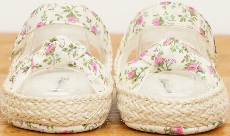 (ラルフローレン) Ralph Lauren フローラル サンダル 花柄 ベビー Floral Baby Sandals