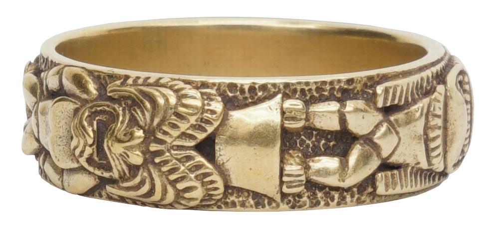 LHN Jewelry(エルエイチエヌ ジュエリー) 米国製 ハンドメイド Totem Pole リング トーテムポール 真鍮製 メンズ ユニセックス Brass Ring