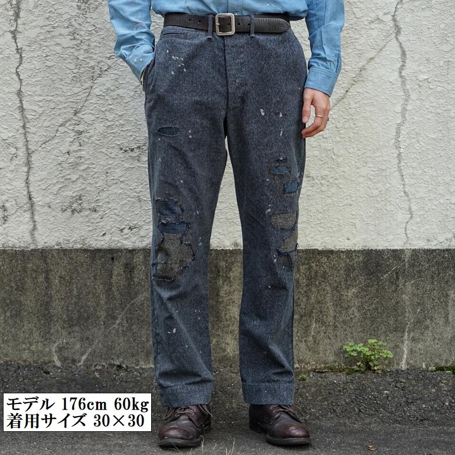 (ダブルアールエル) RRL 日本製デニム地使用 リペアード ジャスペ フィールド チノ メンズ