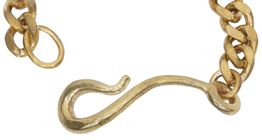 LHN Jewelry(エルエイチエヌ ジュエリー) アメリカ製 ハンドメイド Large Hook Chain Bracelet ラージ フック チェーン ブレスレット 真鍮 メンズ