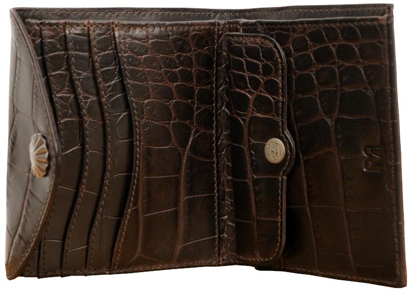 (ダブルアールエル) RRL クロコダイル エンボスド レザー コンチョ ウォレット Crocodile Embossed Leather Wallet