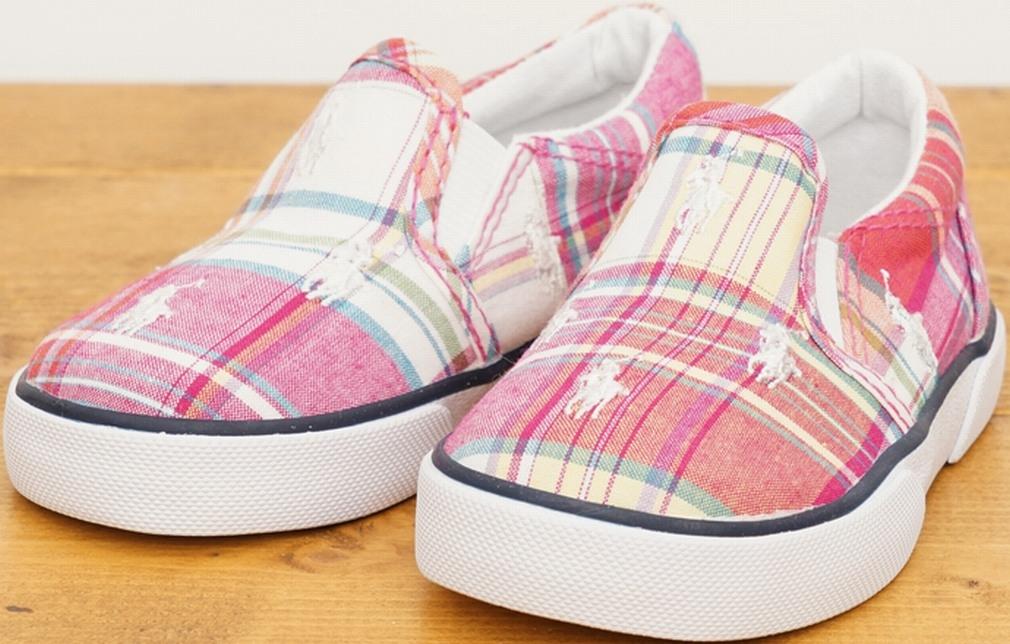 (ラルフローレン) Ralph Lauren マドラス チェック キッズ スニーカー Madras Kids Sneaker