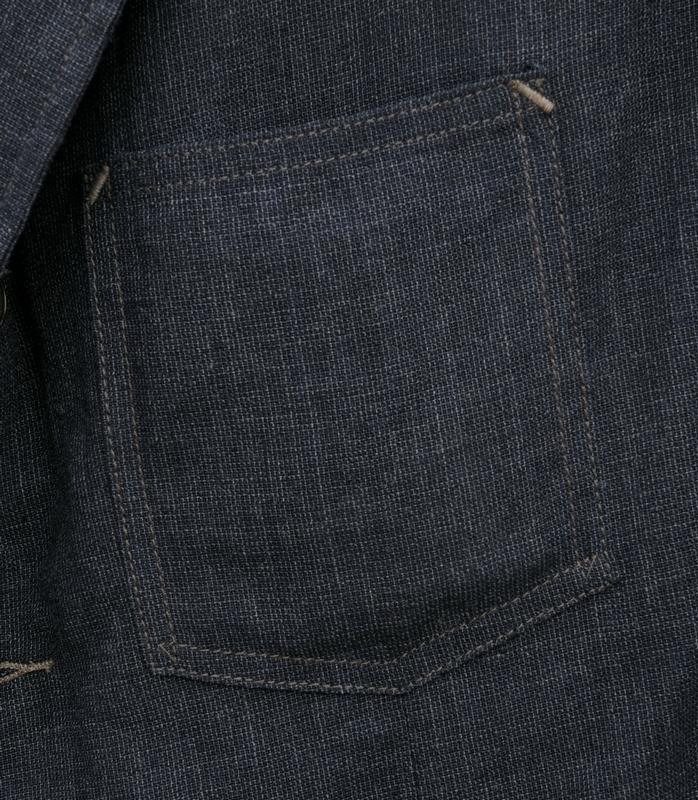 (ダブルアールエル) RRL 日本製生地 Anderson ウール リネン ブレンド 本藍染め スポーツコート インディゴ メンズ Indigo Woven Sport Coat