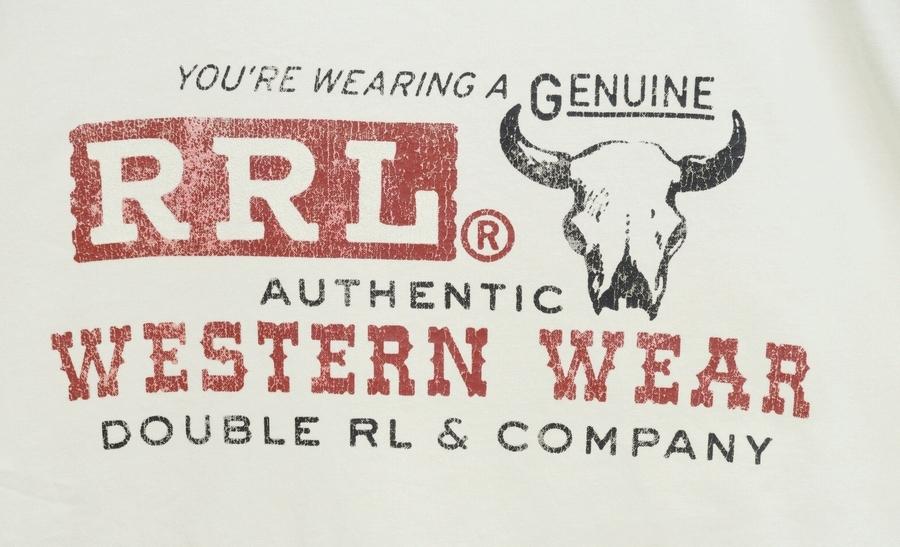 (ダブルアールエル) RRL コットン ジャージー グラフィック Tシャツ クルーネック Tシャツ クリーム メンズ Cotton Jersey Graphic Tshirt