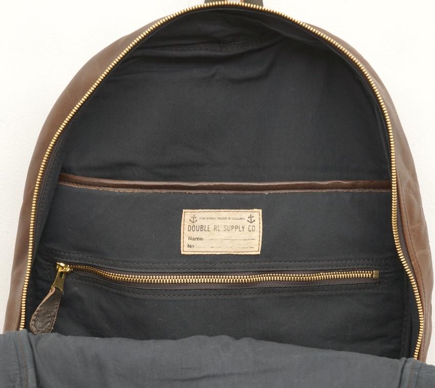 (ダブルアールエル) RRL レザー Mitchell バックパック ブラウン メンズ Leather Backpack