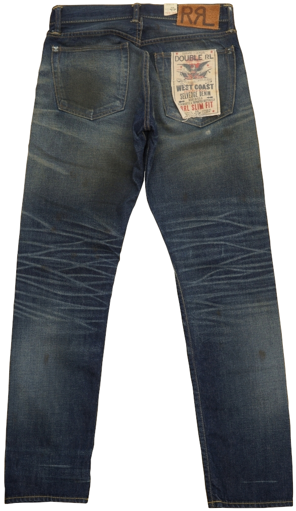 (ダブルアールエル) RRL 日本製デニム使用 スリムフィット Milburn セルビッジ ジーンズ メンズ Slim Fit Selvedge Jean
