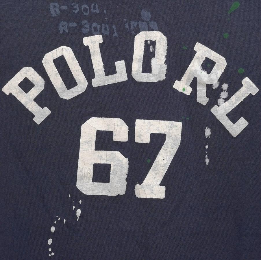 (ラルフローレン) Ralph Lauren 67 ロゴ ペイント加工 コットン Tシャツ メンズ cotton Tshirt
