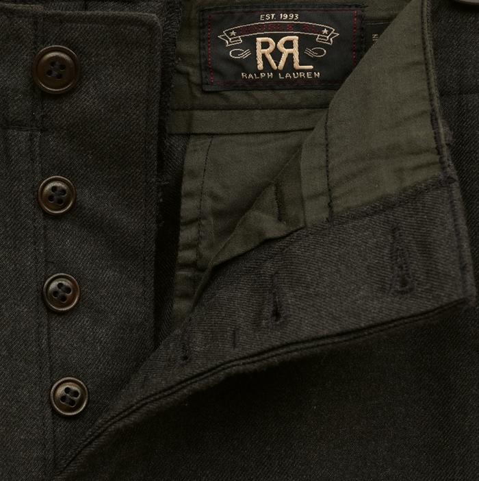 (ダブルアールエル) RRL 日本製生地 ツイル オフィサーズ チノ メンズ ダークグレー Dark Grey Twill Officer's Chino