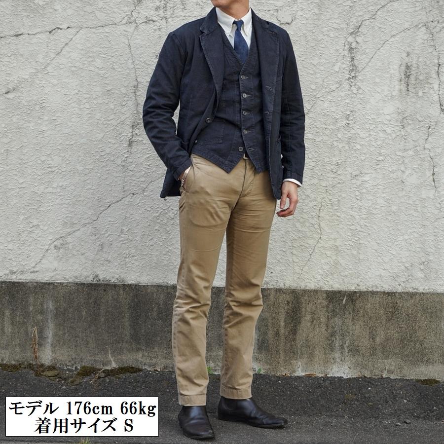 (ダブルアールエル) RRL 日本製生地 Atworth インディゴ ストライプド スポーツ ジャケット 本藍染め テーラード メンズ Indigo Striped Sport Coat