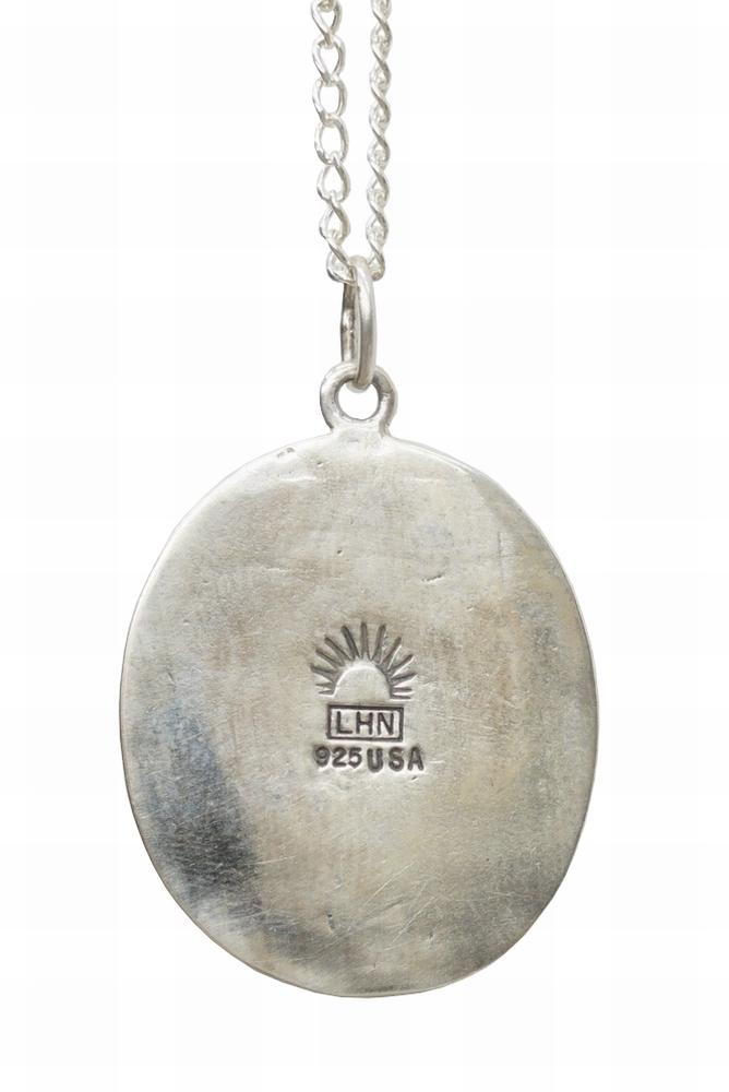 LHN Jewelry(エルエイチエヌ ジュエリー) ハンドメイド Amor ネックレス シルバー x ターコイズ 米国製 メンズ レディース ユニセックス silver necklace