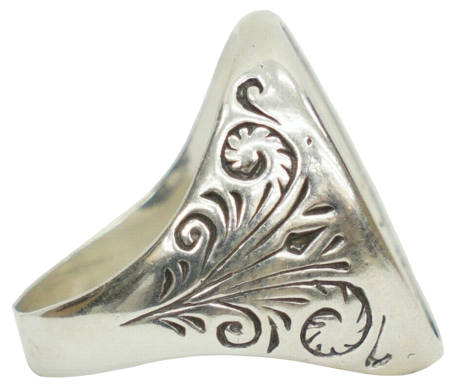 LHN Jewelry(エルエイチエヌ ジュエリー) アメリカ製 ハンドメイド スワロー シグネット リング シルバー x 真鍮 Swallow Signet Ring Silver and Brass