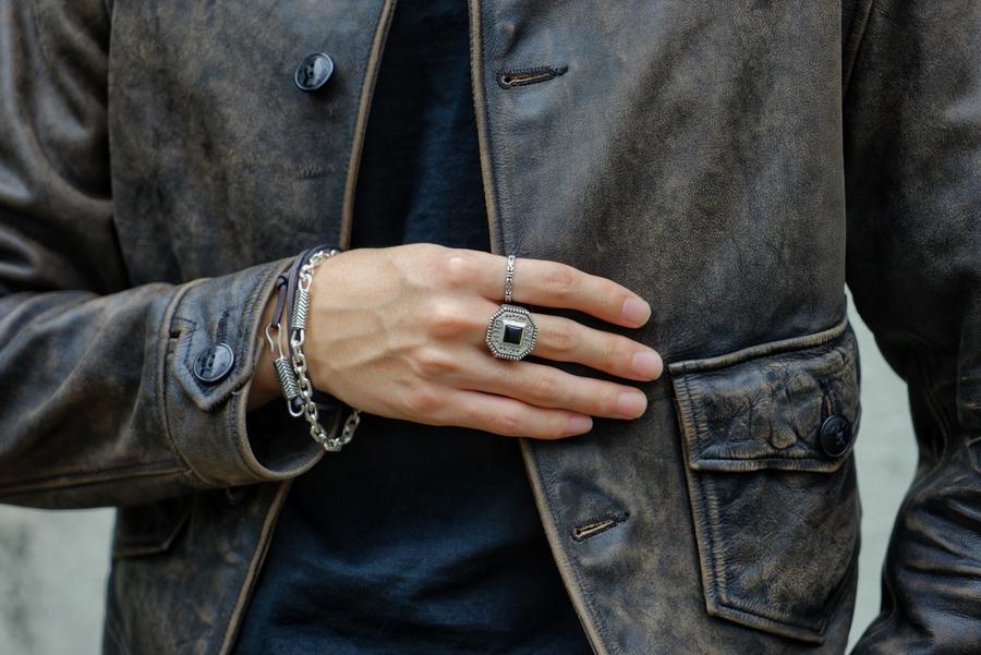 LHN Jewelry(エルエイチエヌ ジュエリー) アメリカ製 ハンドメイド シルバー製 Hiapo チェーン ブレスレット メンズ ユニセックス Chain Bracelet Silver