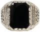 LHN Jewelry(エルエイチエヌ ジュエリー) アメリカ製 ハンドメイド Aztec リング シルバー x オニキス メンズ ユニセックス Silver Onyx ring