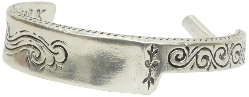 LHN Jewelry(エルエイチエヌ ジュエリー) 米国製 ハンドメイド シルバー カミソリ 剃刀 バングル ブレスレット Straight Razor Cuff Silver