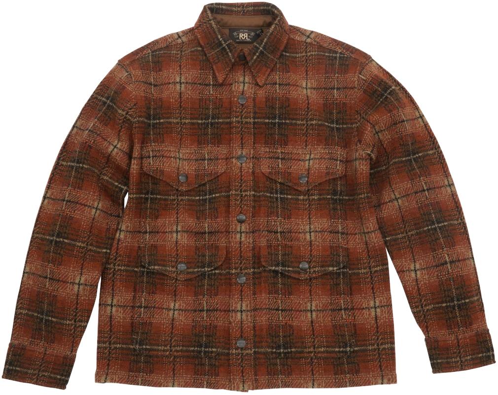 (ダブルアールエル) RRL プラッド ワークシャツ セーター ジャケット カシミヤ ブレンド メンズ Plaid Workshirt Sweater