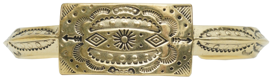 LHN Jewelry(エルエイチエヌ ジュエリー) ハンドメイド アメリカ製 ナバホ バングル ブレスレット � 真鍮 メンズ ユニセックス Navajo Cuff Brass