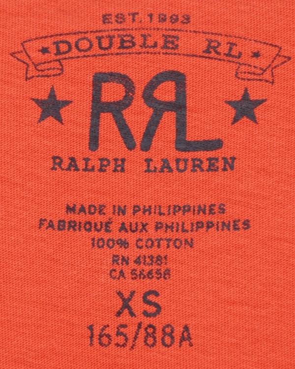 (ダブルアールエル) RRL コットン ジャージー Tシャツ フェイデド レッド メンズ Cotton Jersey Graphic Tshirt Faded Red