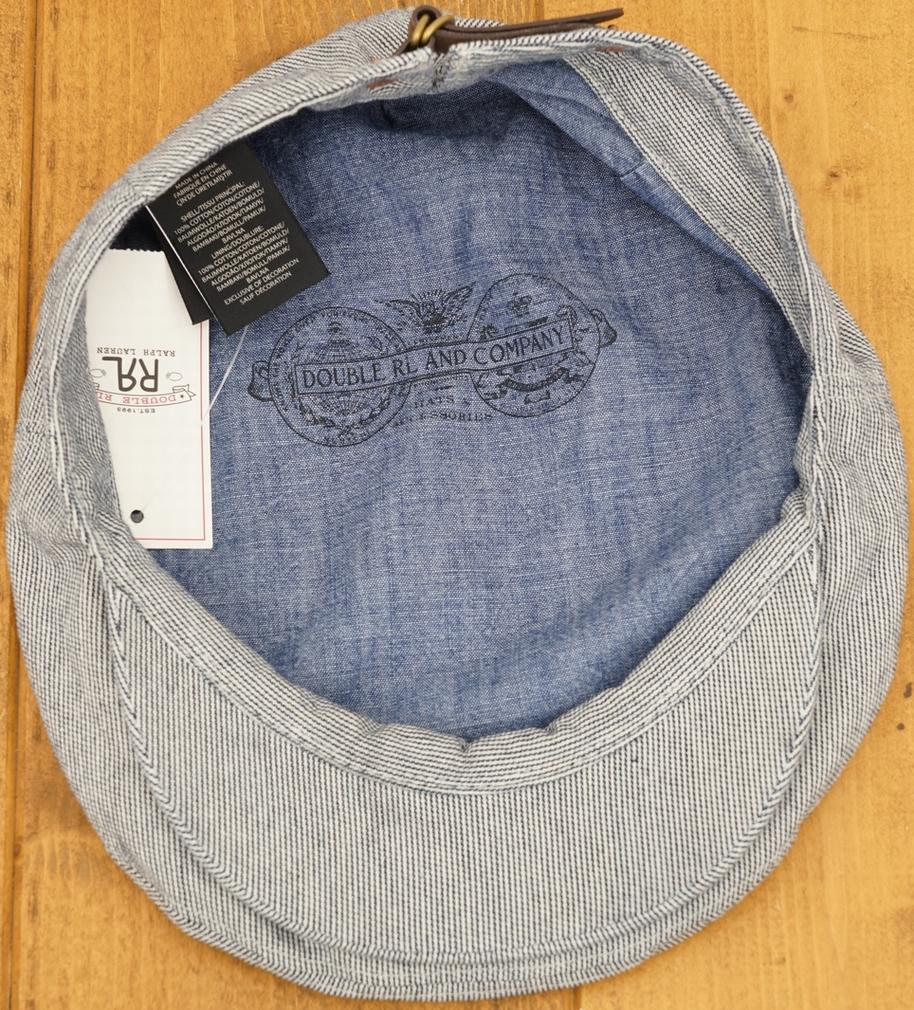 (ダブルアールエル) RRL インディゴ コットン ハンチング ドライバーキャップ メンズ Indigo Cotton Driver Cap