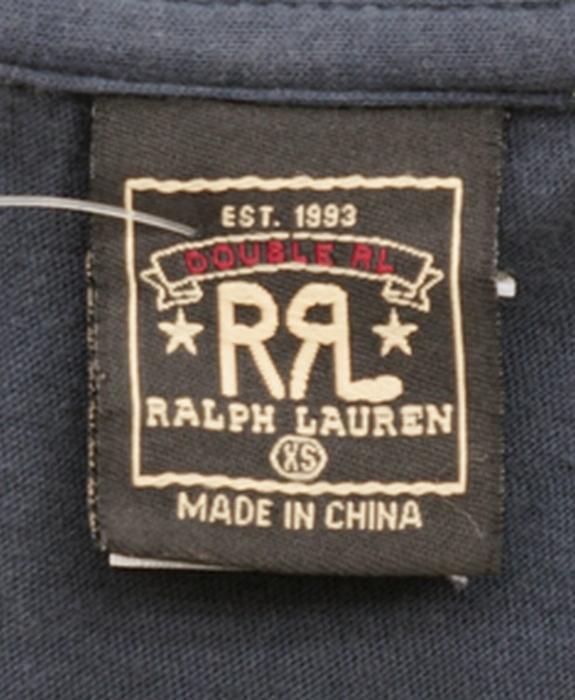 訳あり RRL / ダブルアールエル クルーネック Tシャツ RL ネイビー 無地 XS