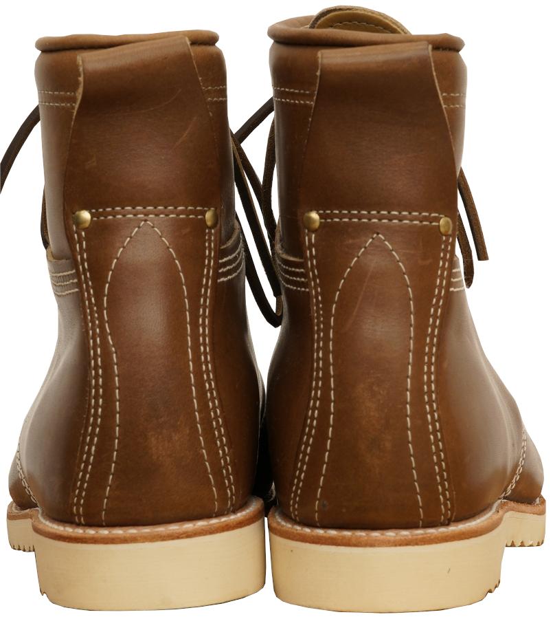 (ダブルアールエル) RRL アメリカ製 BRUNEL BOOTS ワーク ブーツ ブラウン フルグレインレザー Leather Work Boot