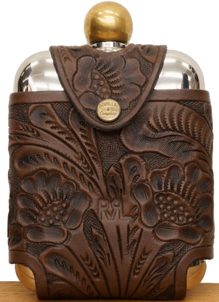(ダブルアールエル) RRL ツールド カービング レザー ヒップ フラスク Tooled Leather Hip Flask