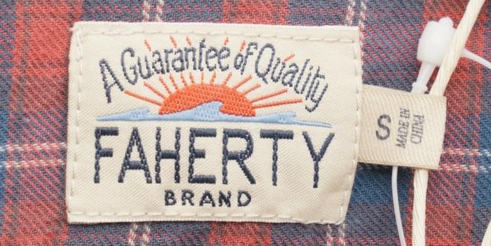 FAHERTY BRAND (ファリティ ブランド) Ventura チェック シャツ レッド x ブルーメンズ Dusty Red Blue
