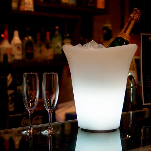 【光るディスプレイ】光るワイン・シャンパンクーラー(充電式)×1コ