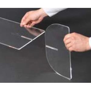 【飛沫対策/仕切り】クリアパーテーションS6030高60透明 ×1枚