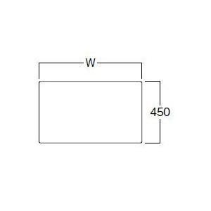 【飛沫対策/仕切り】クリアパーテーションボードSS60高45 ×1枚