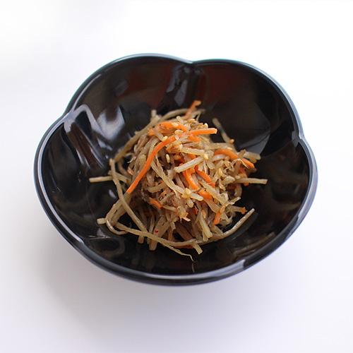【割れにくいメラミン皿】梅型小鉢 黒 ×5枚