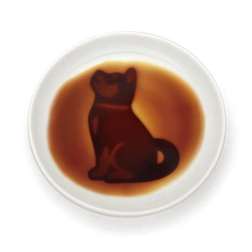 イヌ醤油皿 おねだり ×3枚