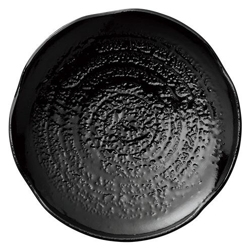 【割れにくいメラミン皿】和皿 大 漆黒 ×5枚