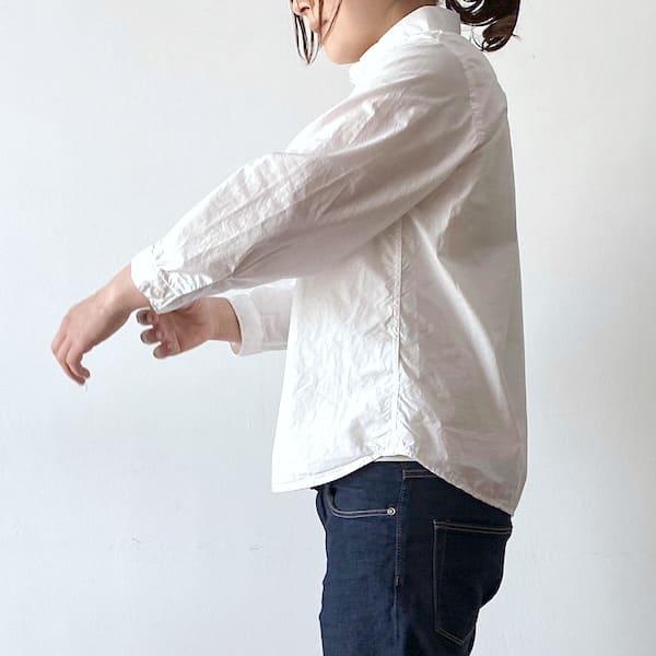 【4/7より発送予定】 GENERALSTORE / Aライン8分袖シャツ
