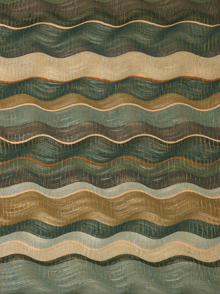 袋帯 波横段柄すくい織り 中古品 お仕立て上がり No 3536846