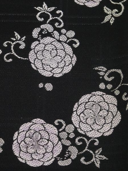 粋な黒地 小袋帯 正絹
