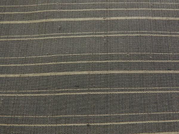紬 違い横縞模様 中古品お仕立て上がり 正絹  No 3545954