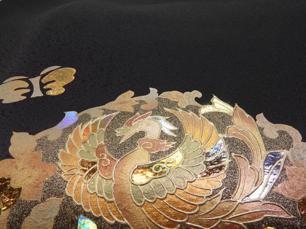 色留袖 伝統工芸士 堀省平 新古品お仕立て上がり正絹 正倉院紋様 No3550019