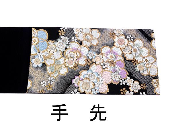 袋帯 振袖用 流水桜柄 お仕立て上がり 中古品 No 3519115