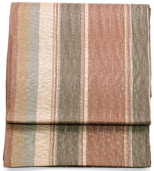 夏用 袋帯 すくい織り 中古品 お仕立て上がり No 3518705