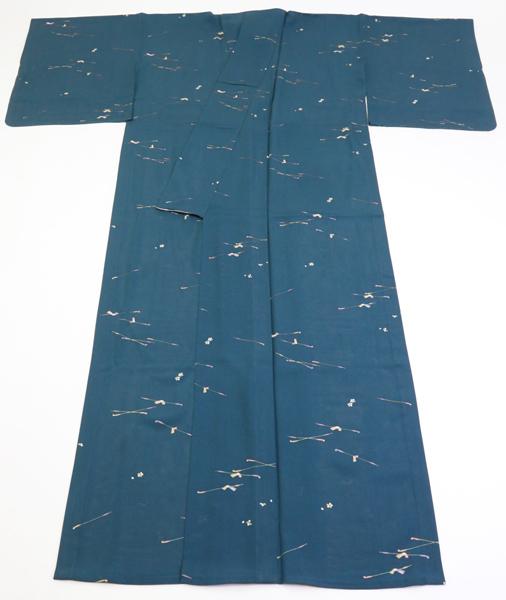 絽 駒絽小紋 キセルに結び文の柄 新古品  No 3521200