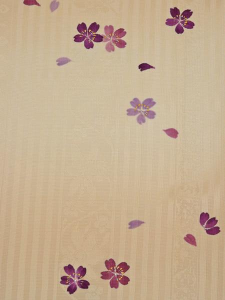 身丈・裄長め 桜模様 付下げ  新古品  No 3365576