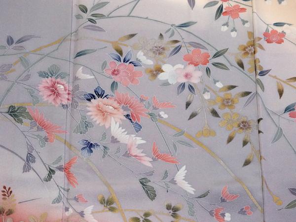 京友禅 訪問着 四季の花柄 新古品 No 3387295