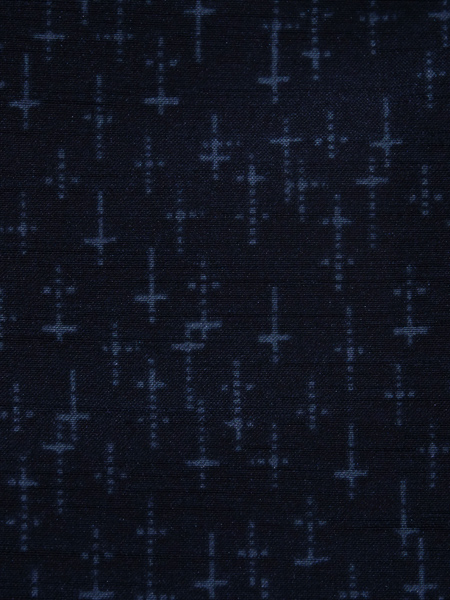 洗える 紳士着物 絣模様  紺色 No3487926