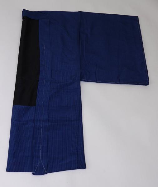 洗える 紳士羽織 縞柄  紺色 No3487902