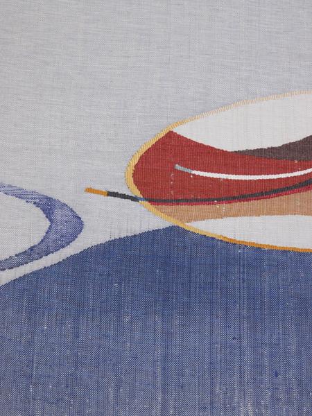 紬織り 八寸名古屋帯 新古品仕立て上がり No 3496928