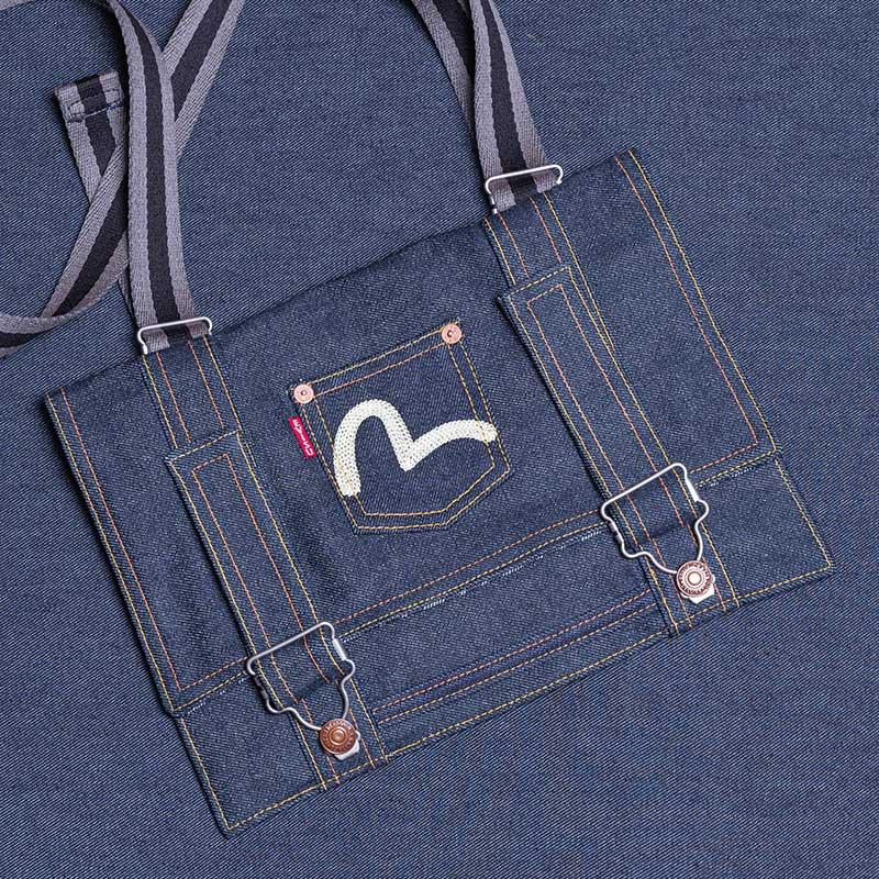 DENIM CLUTCH BAG (SHOULDER/GRAY) KAMOME