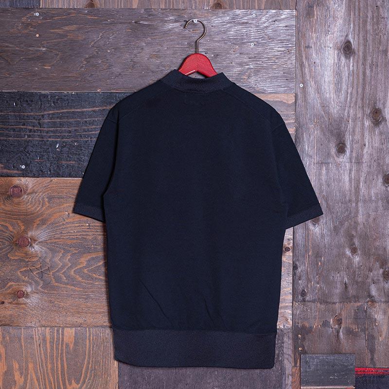 《GARY SS》 MOCKNECK TEE (KAMOME刺繍) BLACK