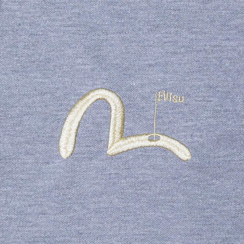 《BEIJING》 POLO SHORT SLEEVE (PIN KAMOME刺繍) GRAY