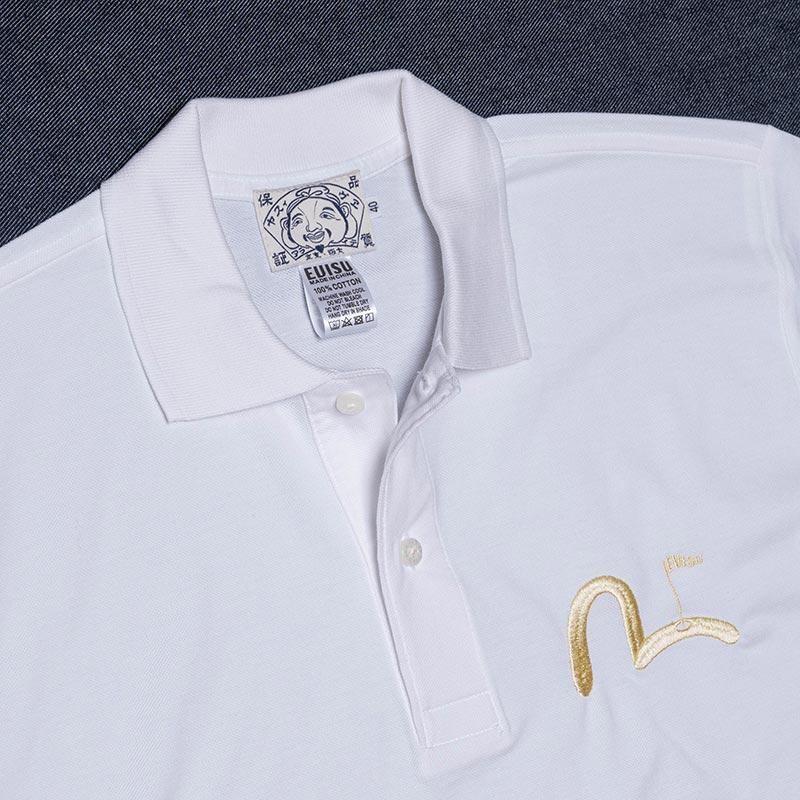《BEIJING》 POLO SHORT SLEEVE (PIN KAMOME刺繍) WHITE